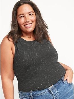 Débardeur évasé en jersey luxueux pour femme