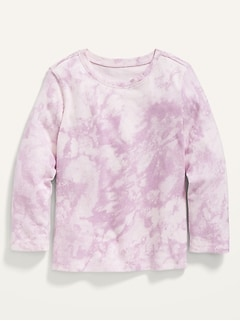 Unisex Long-Sleeve Printed Jersey T-Shirt for Toddler