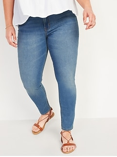 High-Waisted Medium-Wash Super Skinny Ankle Jeans for Women