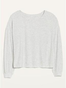 Sunday Sleep Oversized Rib-Knit Sweatshirt for Women