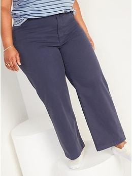 Pantalon à jambe large et taille très haute pour Femme