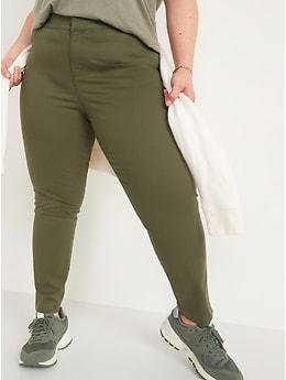 Pantalon chino Pixie taille mi-basse longueur cheville pour Femme
