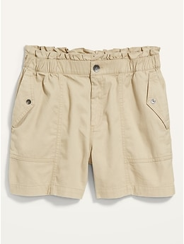 High-Waisted Twill Utility Shorts for Women -- 4.5-inch inseam