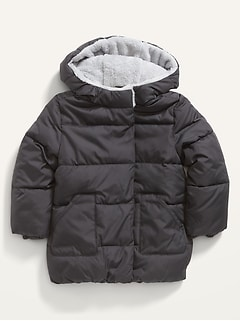 Unisex Hooded Long Frost-Free Puffer Jacket for Toddler