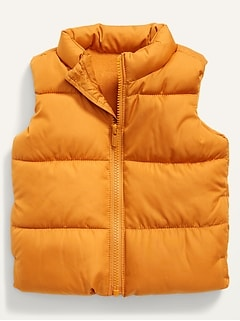 Unisex Solid Frost-Free Puffer Vest for Baby