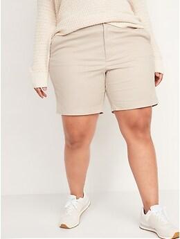 Short quotidien à taille haute, pour Femme (entrejambe de 18cm)