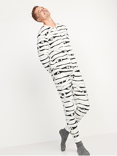 Matching Halloween Graphic One-Piece Pajamas for Men