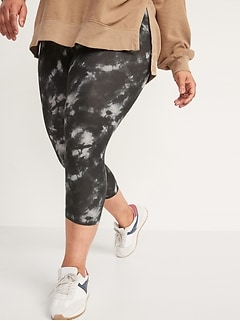 High-Waisted Printed Cropped Leggings for Women