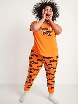 Halloween Matching Graphic Pajama Set for Women