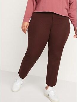 Pantalon Pixie à jambe droite longueur à la cheville, taille haute, pour femme