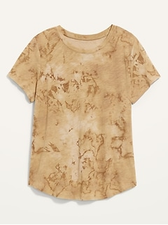 EveryWear Printed Slub-Knit T-Shirt for Women