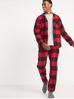 Matching Plaid Flannel Pajama Set for Men