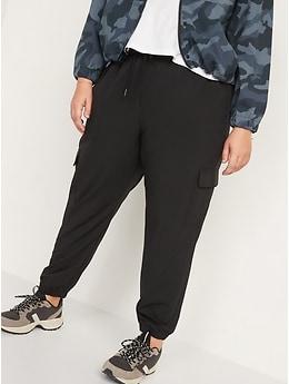 Pantalon de jogging cargo à taille haute StretchTech pour Femme