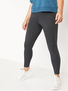 High-Waisted Jersey Ankle Leggings For Women