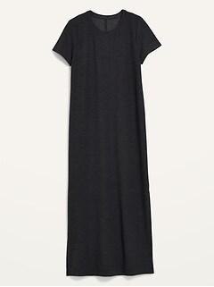 Short-Sleeve Breathe ON Maxi T-Shirt Shift Dress for Women