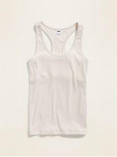 Camisole de nuit en tricot côtelé à soutien-gorge intégré pour femme