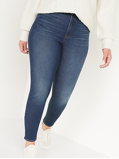 Extra High-Waisted Rockstar 360° Stretch Super Skinny Jeans for Women