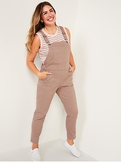 O.G. Straight Pop-Color Jean Overalls for Women