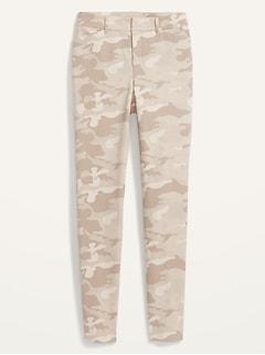Pantalon long Pixie à taille haute à imprimé camouflage pour femme