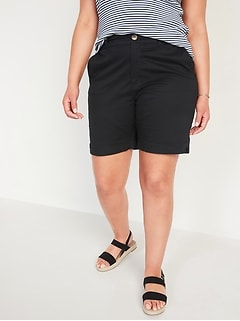 High-Waisted Twill Everyday Shorts for Women -- 7-inch inseam