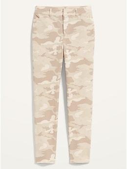 Pantalon Pixie, longueur à la cheville, à taille haute et motifs
