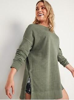 Loose Cali-Fleece Terry Tunic Sweatshirt for Women