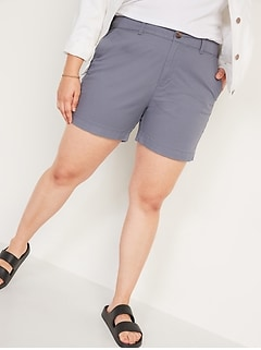 High-Waisted Twill Everyday Shorts for Women -- 5-inch inseam