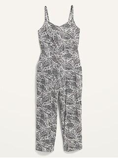 Combinaison camisole imprimée pour femme