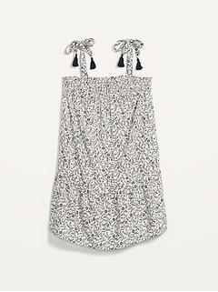 Sleeveless Smocked Floral Mini Swing Dress for Women