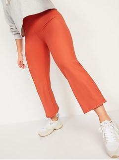 High-Waisted PowerSoft Side-Pocket 7/8-Length Flare Leggings for Women