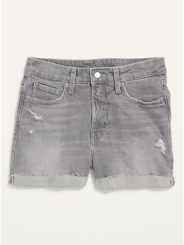 High-Waisted O.G. Gray Cut-Off Jean Shorts for Women -- 3-inch inseam