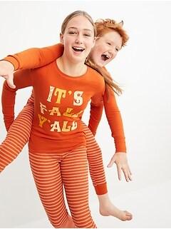 Matching Thanksgiving Gender-Neutral Snug-Fit Pajama Set For Kids