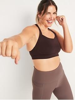 High Support Cross-Back Sports Bra for Women