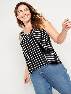 Luxe Jersey-Knit V-Neck Tank Top for Women