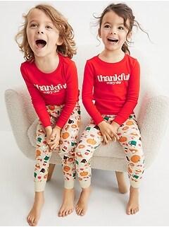 Unisex Matching Thanksgiving Snug-Fit Pajama Set for Toddler & Baby