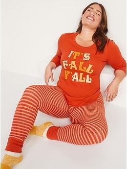 Pyjama à imprimé assorti de l'Action de grâce pour Femme
