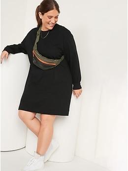 Loose Vintage Long-Sleeve T-Shirt Dress for Women