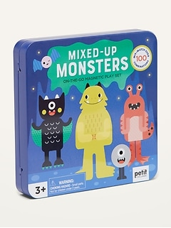 Petit Collage™ Mixed-Up Monsters On-the-Go Magnetic Play Set for Kids