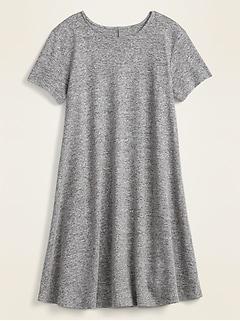 Linen-Blend Jersey Swing Dress for Women
