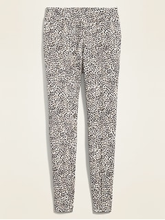 High-Waisted Stevie Ponte-Knit Printed Pants