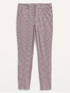 Pantalon Pixie à motifs, longueur à la cheville et taille haute pour femme