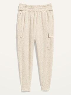 Pantalon de yoga de style cargo à taille mi-basse pour Femme