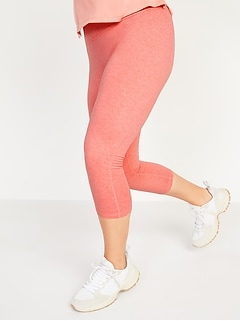 High-Waisted CozeCore Crop Leggings for Women