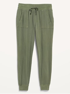 High-Waisted Garment-Dyed Street Jogger Pants for Women