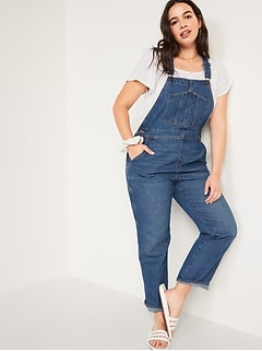 Slouchy Straight Workwear Jean Overalls for Women
