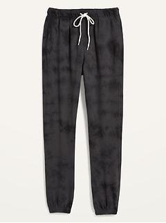 Pantalon en coton ouaté spécialement teint à taille très haute pour Femme