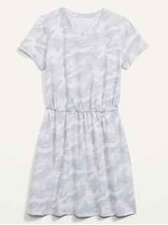 Robe t-shirt à taille définie en fil flammé pour Femme