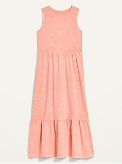 Fit & Flare Sleeveless Tiered Midi Dress for Women