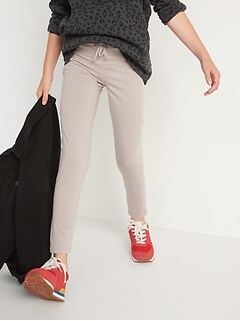High-Waisted CozeCore Drawstring 7/8-Length Leggings for Girls