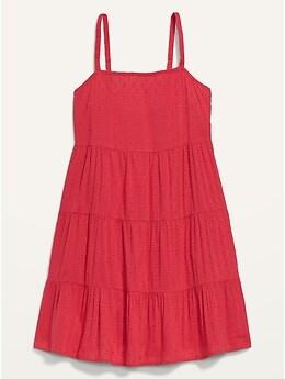 Robe courte trapèze étagée sans manches pour Femme